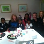Katey with the BBC '12 o' Clock Show' ladies, Anthony Head and Sherrie Eugene, and the beautiful kids at Bristol Black Carers, for Children In Need.  Nov 2012.